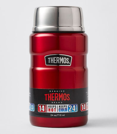 Thermos 710ml Stainless Steel Vacuum Flask/Jar - Red