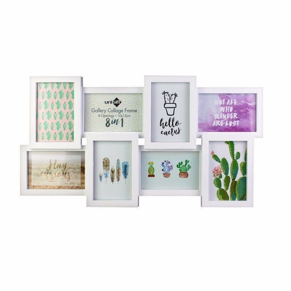 8 in 1 Collage Frame - White - 10x15cm