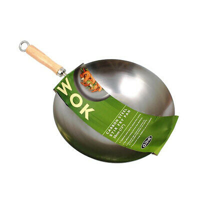 Carbon Steel Wok/Stir Fry Pan 27cm