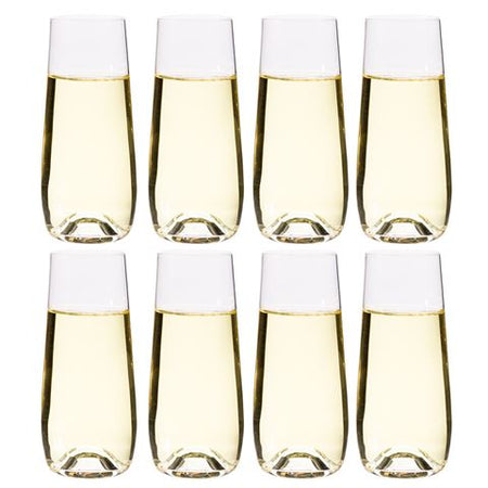 Salt & Pepper Polo Stemless Champagne Flutes 230ml Set of 8