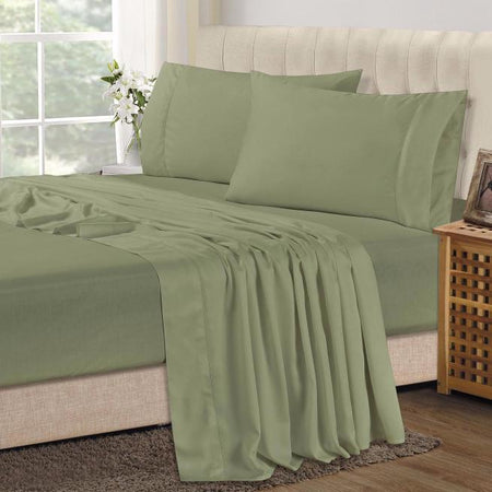 Bamboo Combo Set - King Single Fitted Sheet and One Pillowcase - Sage
