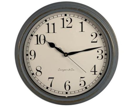 Cooper & Co 'Antique' Grey Clock 39.5cm