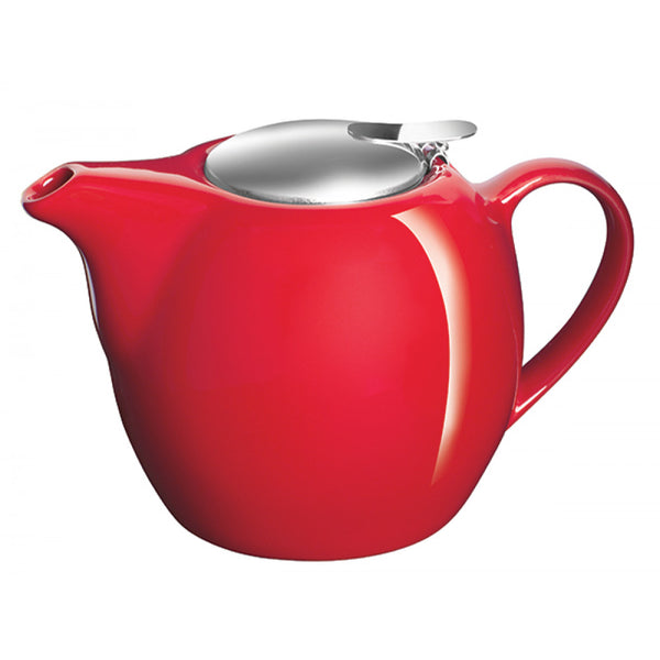 Avanti Camelia Ceramic Fire Engine Red Teapot - 500ml