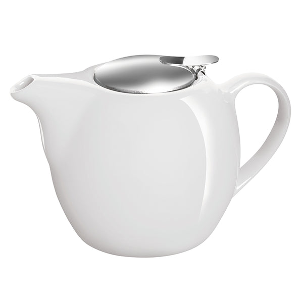 Avanti Camelia Ceramic White Teapot - 750ml