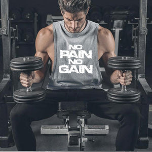 Nopainnogain Sports Fitness Vest   Cotton Sleeveless T-Shirt