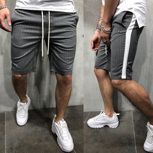 Men's Sports Fitness Casual Stripe Colorblock Shorts