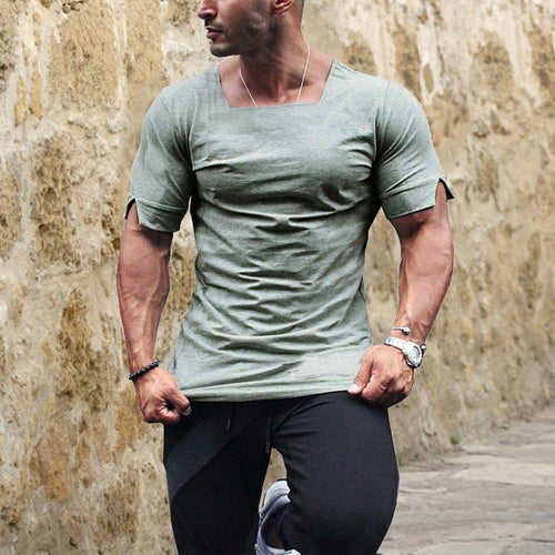 2019 Summer Men's Cotton Casual Round Neck Short Sleeve T-Shirt
