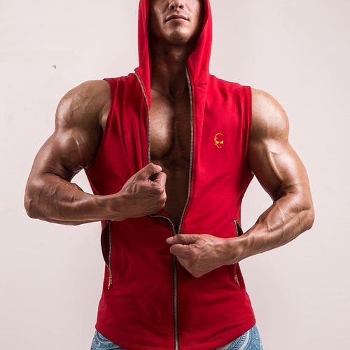 Muscular Fitness Men's Sports Casual Wild Slim Sleeveless Vest Top