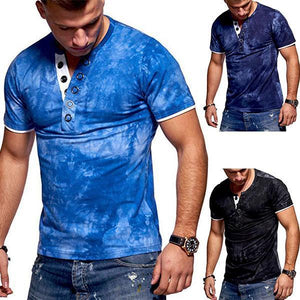 Men's Fashion Tie-Dyed V-Neck Short-Sleeved T-Shirt