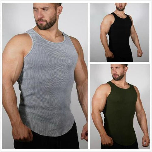 Casual Pure Colour Tight Fit Vest