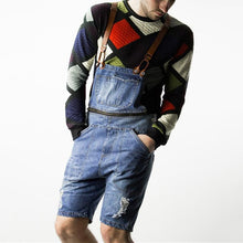 Load image into Gallery viewer, Fashion Broken Hole Slim Fit Straight Type Denim Romper
