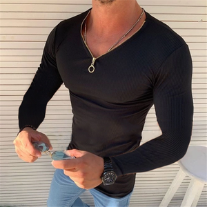 Sexy Ultra-Thin V-Neck Men's T-Shirt