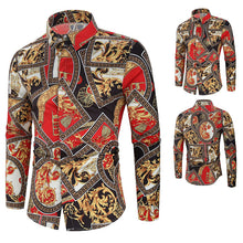 Load image into Gallery viewer, Fashion Court Style Printed Long Sleeve Shirts
