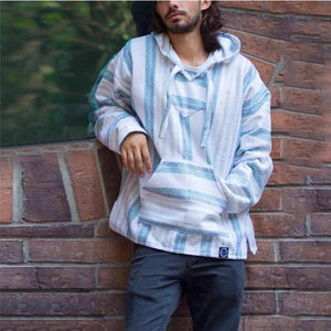 National Hot Loose Long Sleeve Thin Baja Hoodie