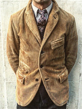 Load image into Gallery viewer, Lapel Corduroy Solid Color Coat