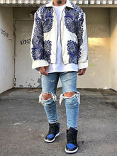 Load image into Gallery viewer, Men's Embroidered Zipper Loose Jacket