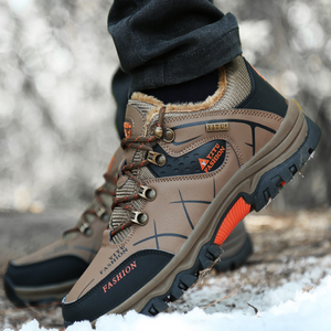 Winter skid heightening plus velvet warm outdoor hiking sports shoes