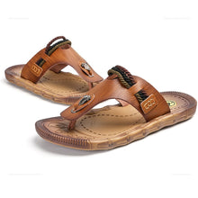 Load image into Gallery viewer, Men's Outdoor Leisure Breathable Bovine Muscle Bottom Flipper Cool  Shoes
