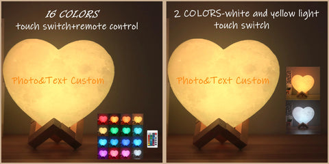 Moon Lamp 3D print Heart Night Light