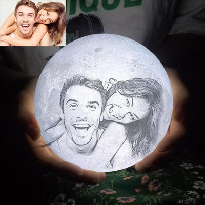 Personalized 3D Photo Printed Moon Light-FCC Certified