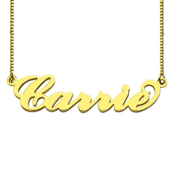 18k Gold Plated Custom Name Necklace