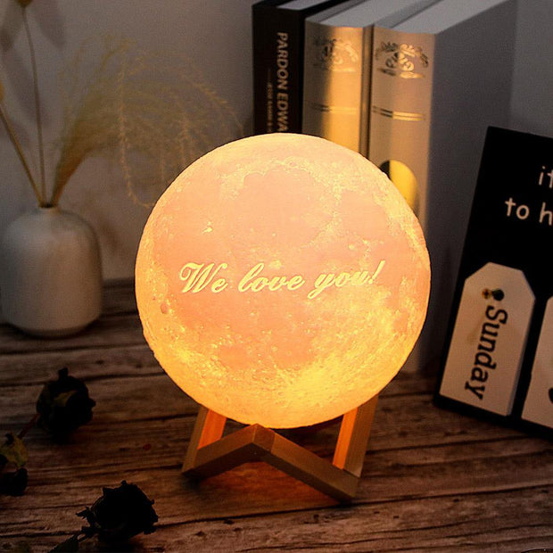 Photo Moon Lamp, Custom 3D Photo Light, Lamp Moon