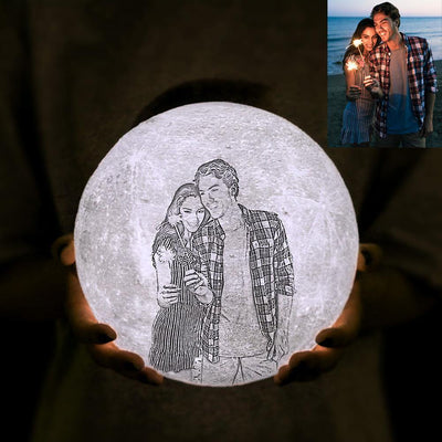 Mother's Day Gifts Custom 3D Photo Printed Moon Light