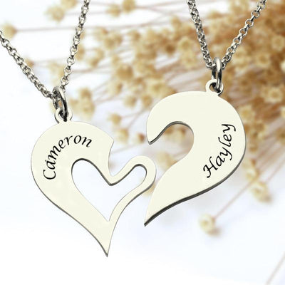 358907f59200 Personalized Breakable Heart Name Necklace for Couples - Unique ...