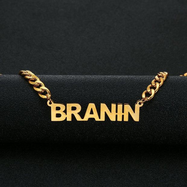 Custom 18K Gold Plated Name Necklace For Men And Women