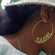 Custom Name Big Earrings For Women