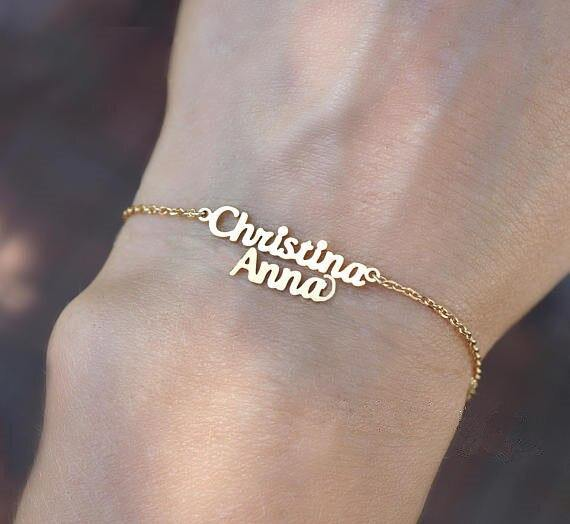 Customized Name Bracelet For Her Sterling Silver | Rose Gold