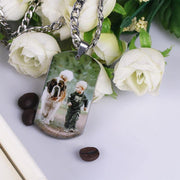 Personalized Photo Necklace Memorial Gift