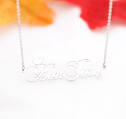 Personalized Name Necklace With Queen Crown