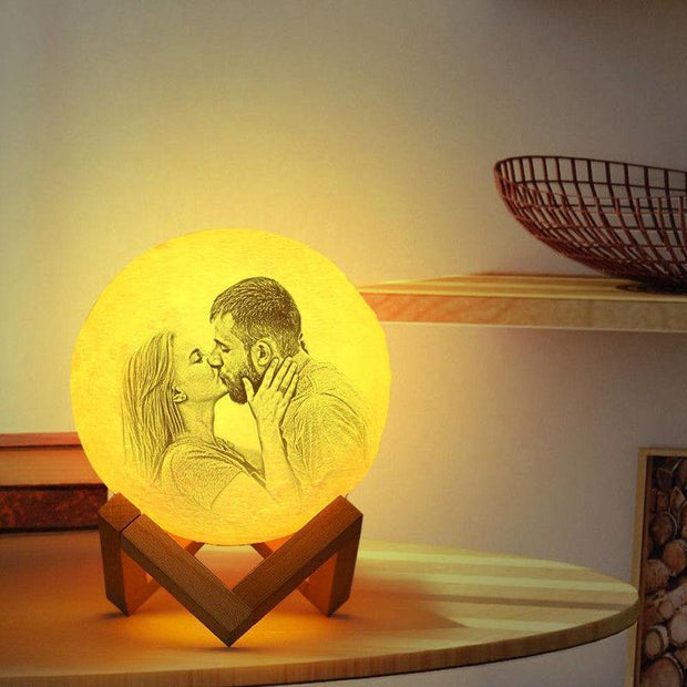 Custom 3D Photo Printed Moon Lamp Light