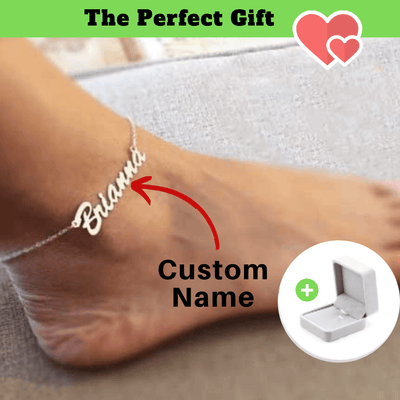 Personalized name anklets