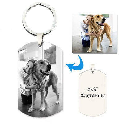 Personalized Titanium Steel Photo KeyChain