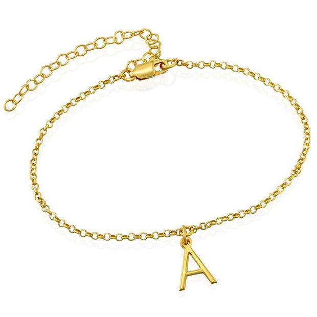 Personalized Initial Anklet Bracelet Custom Letters Anklets for Women