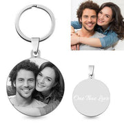 Picture Keychain- Round Keychain Engrave With Photo