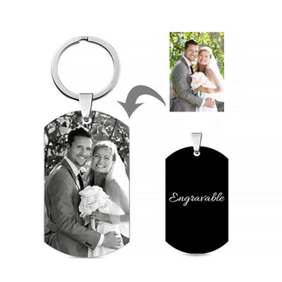 Custom engraved photo keychains