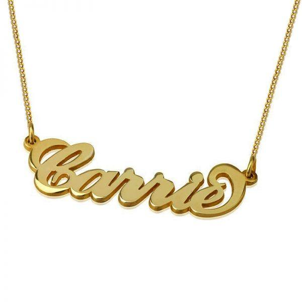 Custom 18k Gold Plated Name Necklace - Customized Gift For Her