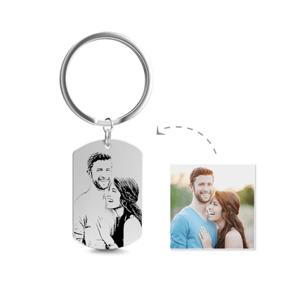 Picture Keychain For Christmas Gift- Custom With Photo, Words