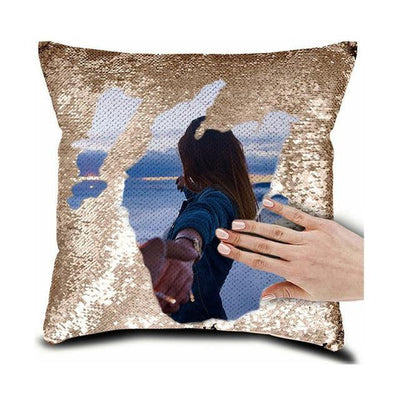 Custom Photo Reversible Flip Sequin / Mermaid Pillow-Made In USA