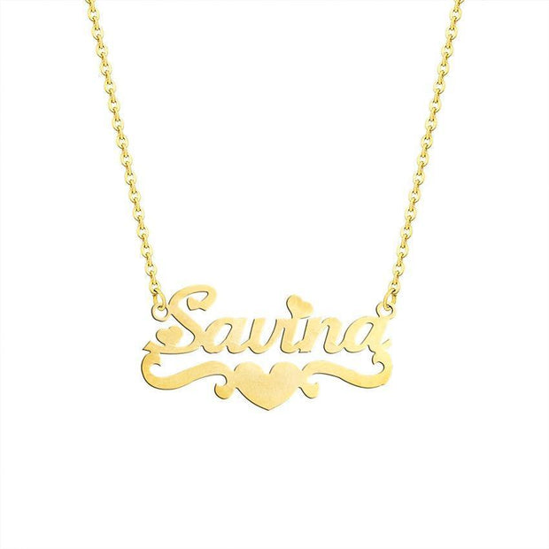 Personalized Name Necklaces With Heart