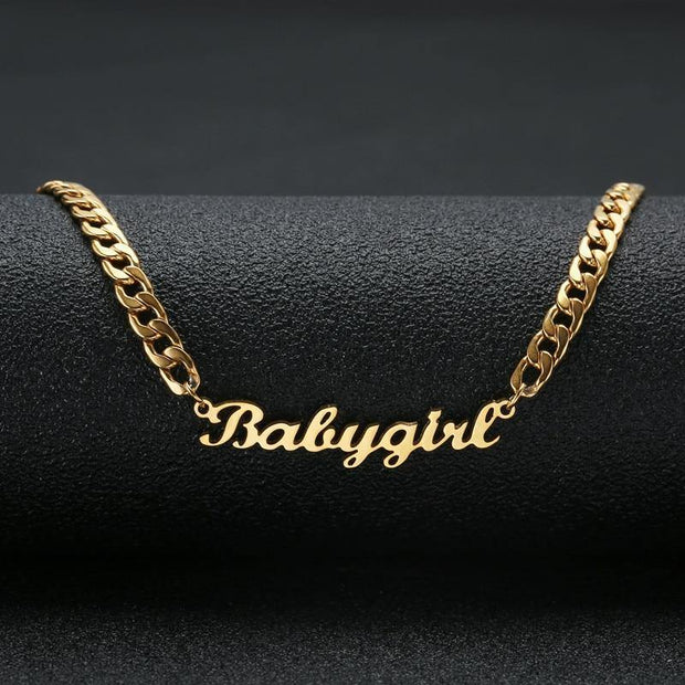 Custom Name Necklace In 18k Gold Plated