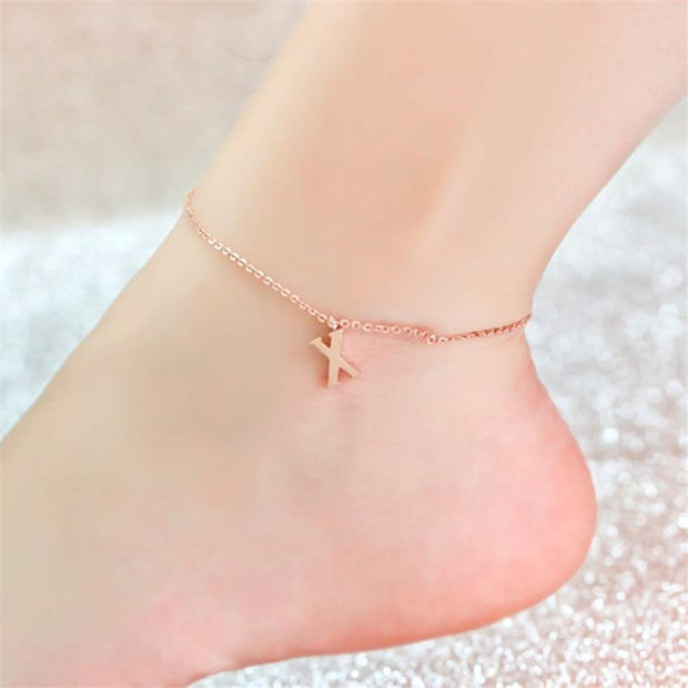 Anklet with initial