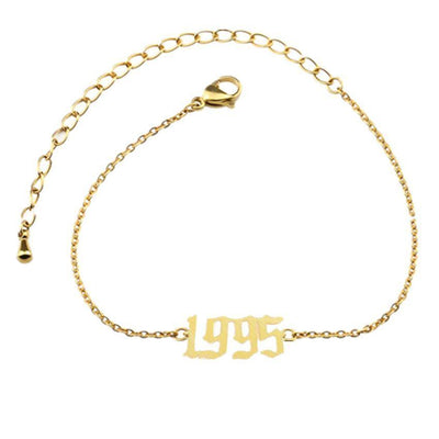 Personalized Anklet Bracelet With Special Date