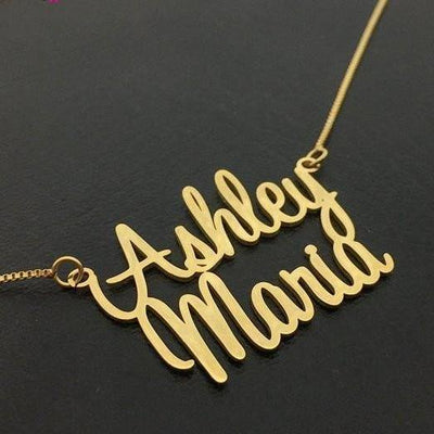 Custom Two Name Necklace Best Gift For Women
