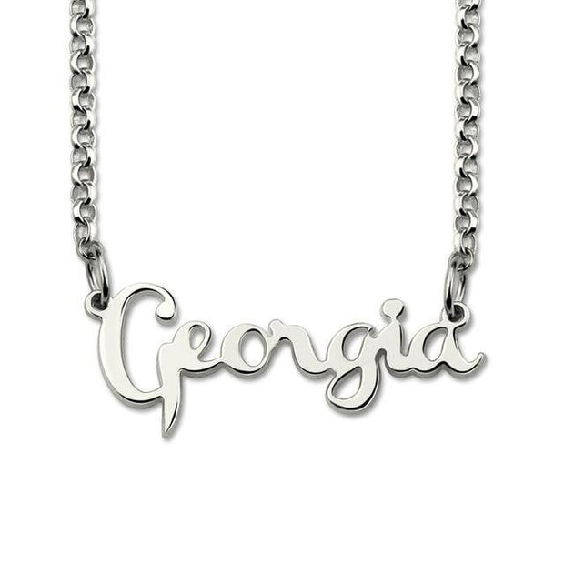 14K Gold Plated Cursive Name Necklace