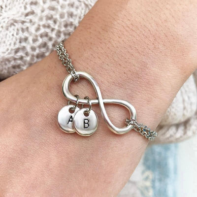 Personalized A to Z Letters Charms Anklet  Bracelets