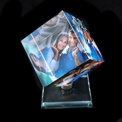 Custom Photo Frame, Rotating Square Shaped Frame, Christmas Gifts For Couple
